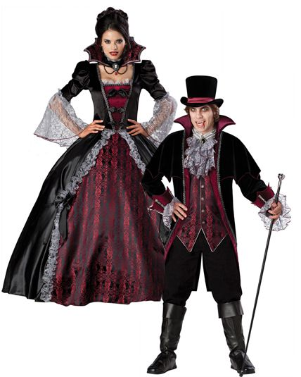 Couple luxe vampire de versailles d guisement adulte couple le - Deguisement halloween couple ...