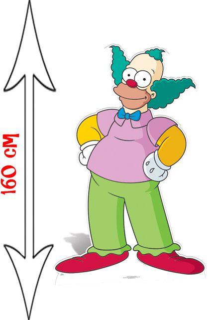 Figurine g ante krusty les simpson d corations les figurines g antes le - Simpson le clown ...