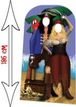 Deguisement Décor Passe Tête Photo En Couple De Pirates Décor Passe Tête Photo