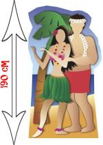 Deguisement Décor Passe Tête Photo En Couple Hawai Décor Passe Tête Photo