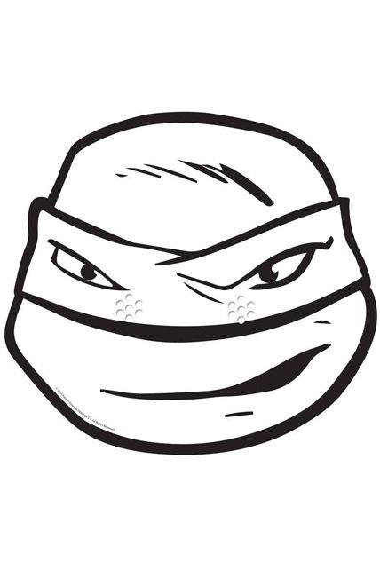 Masque leonardo tortue ninja a colorier masques peindre le - Leonardo tortues ninja ...