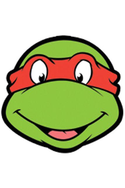 Masque carton adulte raphael tortue ninja masques - Tortue ninja raphael ...