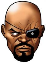 Deguisement Masque Carton Adulte Nick Fury Avengers