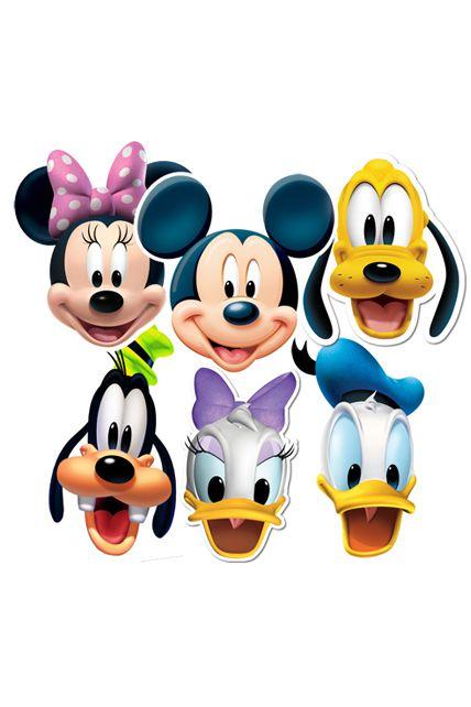 6 masques personnages mickey et friends masques adultes le - Deguisement personnage disney adulte ...