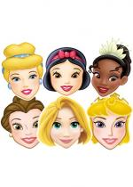 Deguisement 6 Masques Princesses Disney