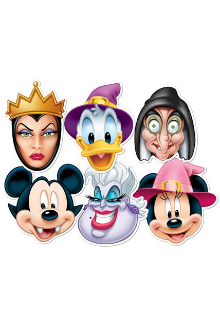 6 masques carton adulte halloween disney masques adultes le - Blanche neige halloween ...