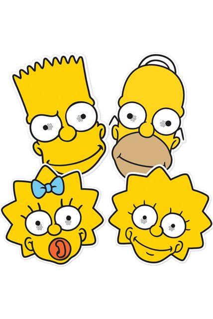 4 masques homer bart lisa maggie les simpson masques - Marge simpson et bart ...