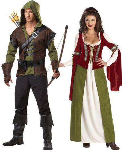 Couple robin des bois d guisement en couple le - Deguisement robin des bois fille ...