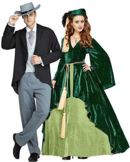Couple scarlett o hara vert d guisement en couple le - Deguisement en o ...
