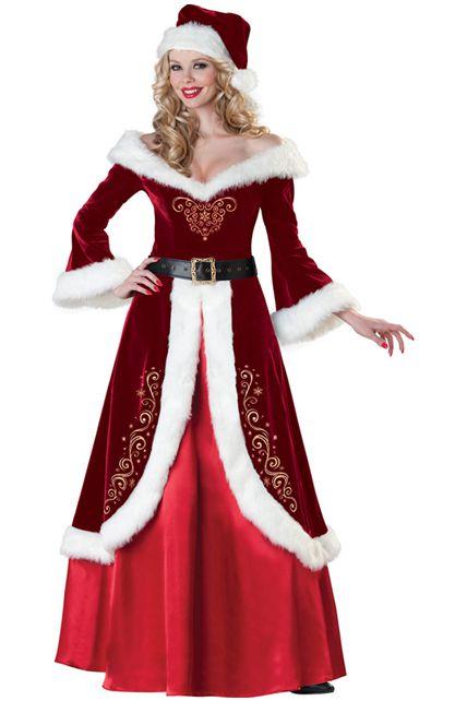 deguisement mere noel adultes Costume Mère Noel Qualité Supérieure   Déguisement adulte Noël Le  deguisement mere noel adultes