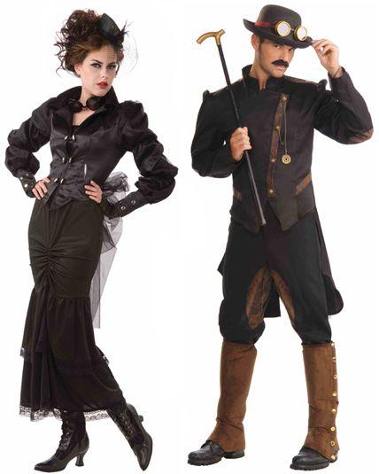 Couple steampunk r trofuturiste d guisement en couple le - Steampunk style vestimentaire ...
