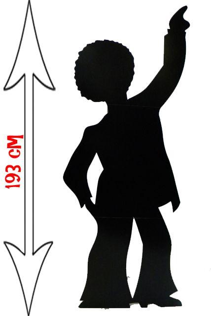 Souvent Figurine Géante Silhouette Homme Danseur Disco - Décorations Les  MK25