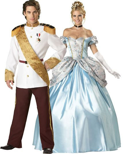Couple prince et princesse enchant e deguisement adulte - Princesse adulte ...