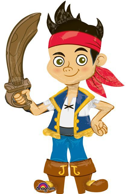 Ballon jake le pirate g ant airwalkers articles de f te - Jack le pirate dessin ...