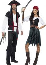 Deguisement Couple Capitaine et Corsaire Pirate En Couple