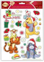 Deguisement Stickers Winnie Disney À Noël 30X20 Cm Décorations Noël