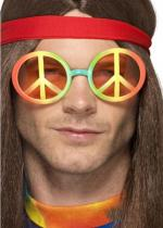 Deguisement Lunette Hippie Peace And Love Arc En Ciel