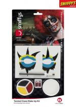 Deguisement Kit Maquillage Clown Tordu Maquillage Halloween