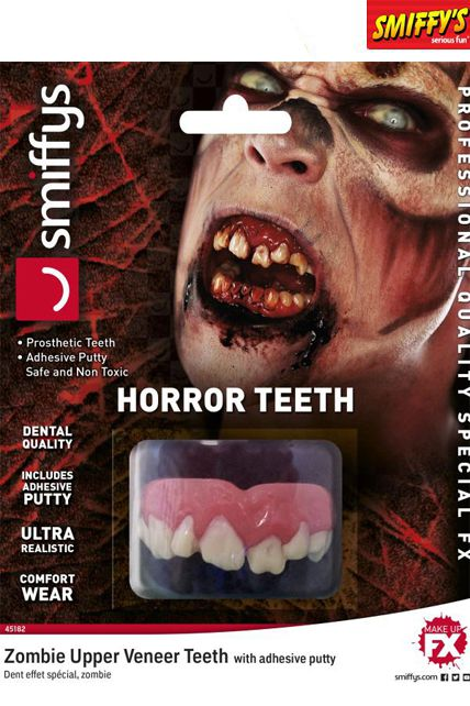 dents horrible zombie maquillage fausse dents le. Black Bedroom Furniture Sets. Home Design Ideas