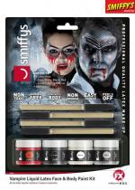 Deguisement Kit Maquillage Latex Liquide Vampire Fluo Maquillage Halloween