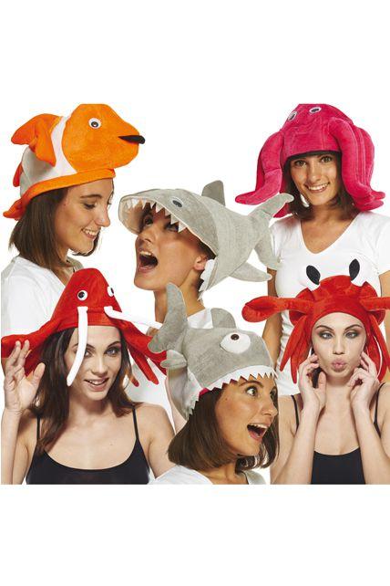 lot de 10 chapeaux animaux de la mer chapeaux vari s le. Black Bedroom Furniture Sets. Home Design Ideas