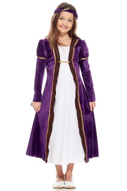 0053c0e9e88 Déguisement Enfant Princesse Médiévale Violet - Déguisement enfant ...