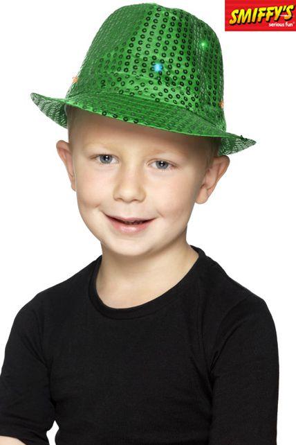 marque populaire usine authentique qualité de la marque Borsalino À Sequins Lumineux Vert