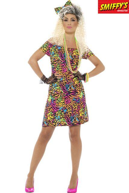 déguisement de fêtarde années 80 fluo - déguisement adulte femme le