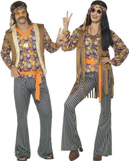 couple chanteur hippie ann es 60 deguisement adulte en. Black Bedroom Furniture Sets. Home Design Ideas
