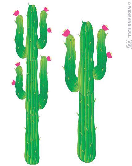 set 2 d cor cactus carton d corations western mexicain le. Black Bedroom Furniture Sets. Home Design Ideas