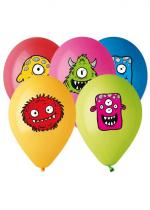 Deguisement Sachet De 5 Ballons Motif Monster Friends
