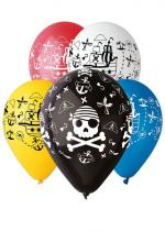 Deguisement Sachet De 5 Ballons Motif Pirate Assortis