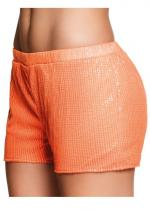 Deguisement Short Sequins Orange Fluo Jupe et Pantalon