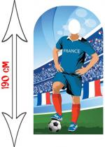 Deguisement Figurine Géante Passe Tête Football France Décor Passe Tête Photo