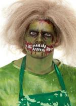 Deguisement Set De Maquillage Tête De Zombie Verte Maquillage Halloween