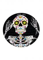 Deguisement Paquet De 6 Assiettes Day Of The Dead 23 Cm
