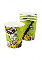 Deguisement Paquet De 6 Gobelets Day Of The Dead 25 Cl
