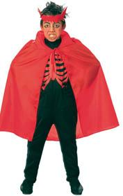 Deguisement Cape en Nylon Rouge Halloween Enfants