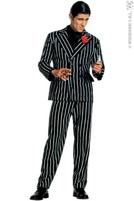 Costume gangster mafieux deguisement adulte homme tailles xl le - Costume homme annee 20 ...