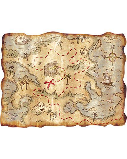 D cor carte au tr sor d corations tropicales marins le - Carte chasse au tresor ...
