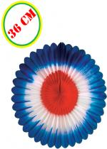 Deguisement Eventail Tricolore 36 Cm