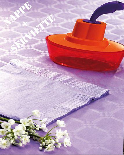 Parure de table lavande pastel articles de f te - Vaisselles de table ...