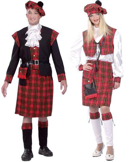 3d4790612a837 Couple D  Ecossais - Deguisement Adulte En Couple Le Deguisement.com