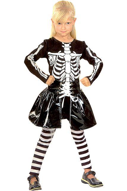 deguisement squelette 7 9 ans deguisement enfant filles halloween le. Black Bedroom Furniture Sets. Home Design Ideas