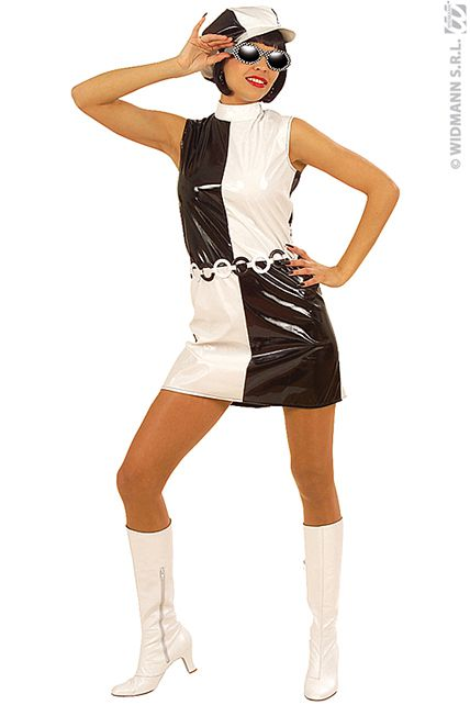 Costume 60 S Chic Vinyl Deguisement Adulte Femme Le