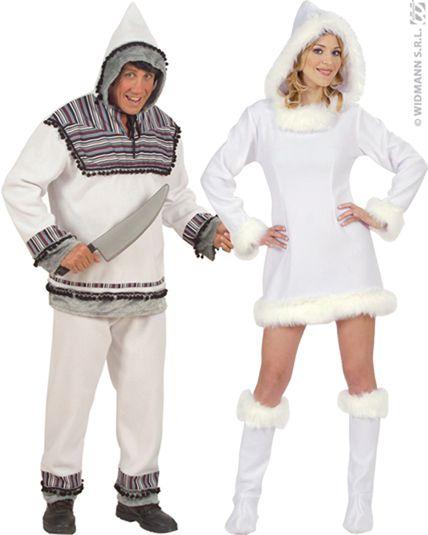 Couple d\u0027Esquimaux costume. Chargement.