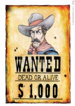 Deguisement Poster Wanted Western et Mexicain