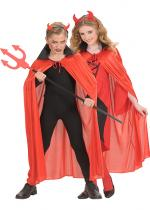 Deguisement Cape Satin Enfant Halloween Enfants