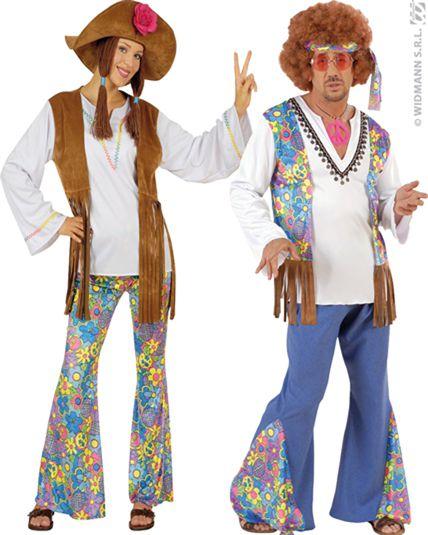 Couple hippie woodstock deguisement adulte en couple le - Tenue hippie homme ...