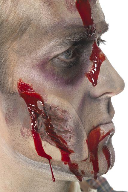 Cicatrice visage sang maquillage halloween le - Maquillage halloween cicatrice ...